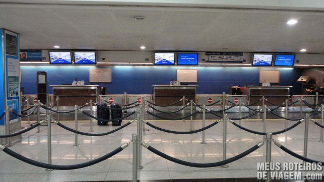 Área de check-in do Terminal 1 - Aeroporto de Dubai