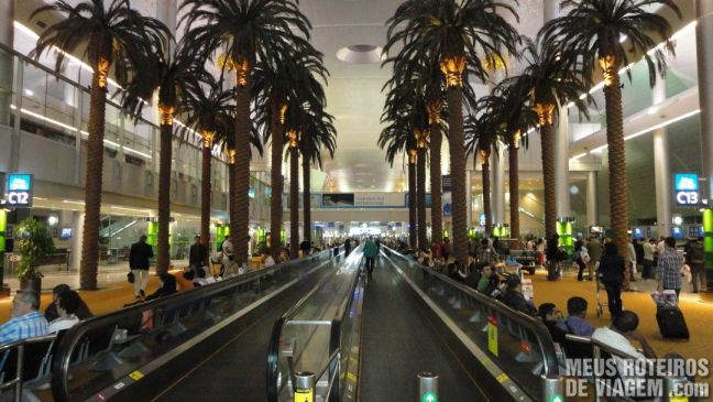 Área de embarque do Terminal 1 - Aeroporto de Dubai