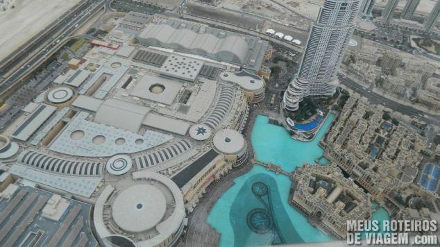 Vista aérea do Dubai Mall