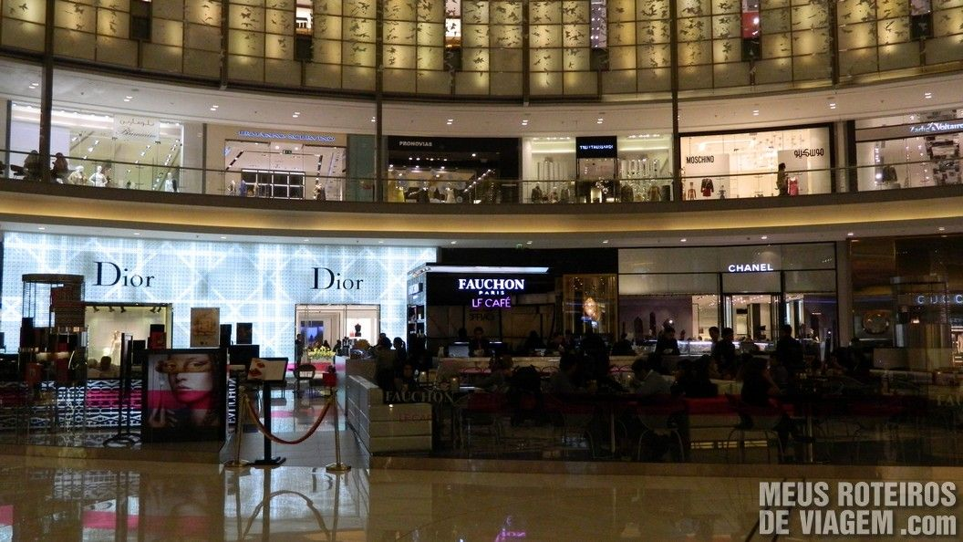 Fashion Avenue do Dubai Mall - Shopping em Dubai