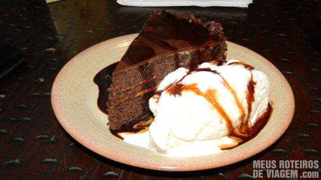 Chocolate Cake no Nando's Dubai