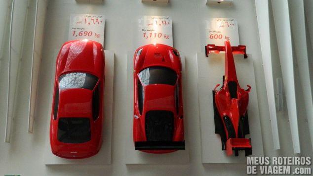 Ferraris no Ferrari World - Abu Dhabi, Emirados Árabes