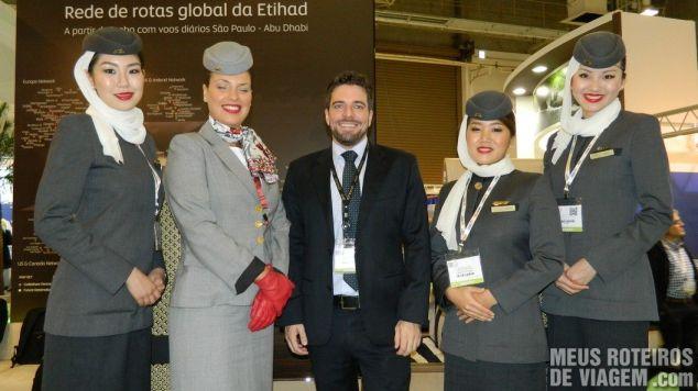 Equipe da Etihad Airways na WTM Latin America 2013