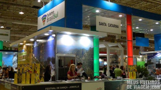Estande de Santa Catarina na WTM Latin America