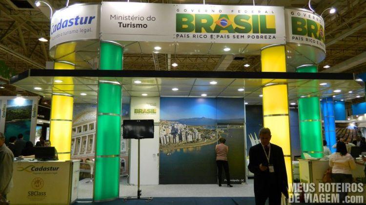 Estande do Ministério do Turismo do Brasil na WTM Latin America