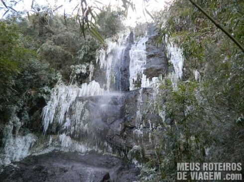 Cachoeira que congela - Urupema / Santa Catarina