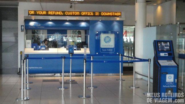 Guichê Global Refund - Tax Free do Aeroporto de Ezeiza - Buenos Aires
