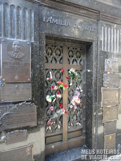 Túmulo de Evita no Cemitério da Recoleta - Buenos Aires, Argentina
