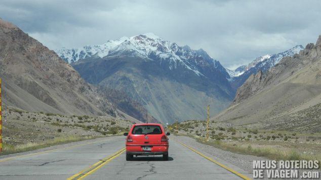 Ruta Nacional 7 - Estrada na Cordilheira dos Andes no sentido Chile-Argentina