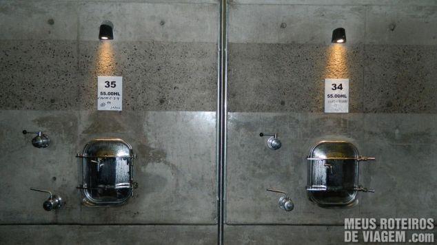 Tanque de fermentação de concreto