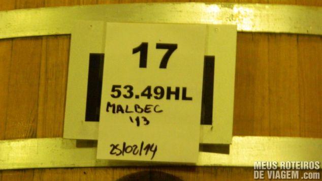 Anotação num tanque de fermentação