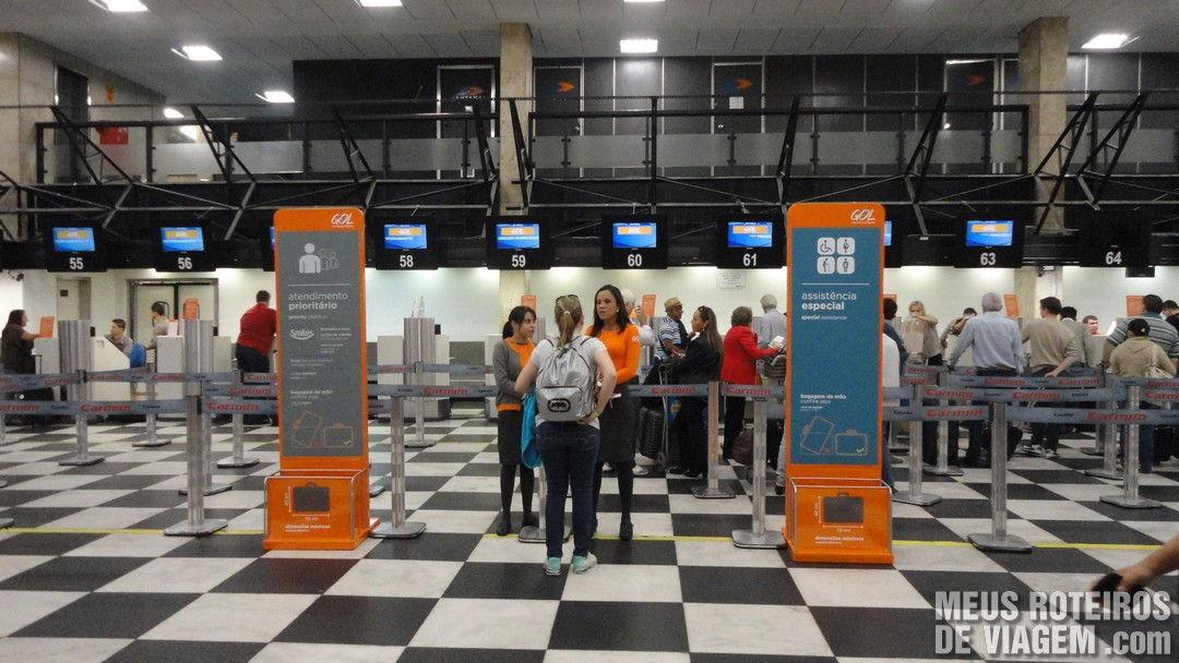 Check-in da GOL Aeroporto de Congonhas São Paulo