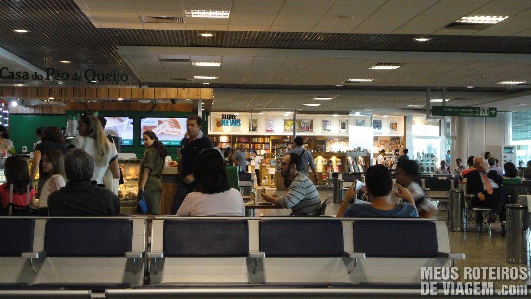 Sala de embarque do Aeroporto de Congonhas São Paulo