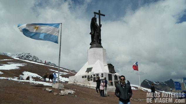 Estátua do Cristo Redentor de Los Andes - Fronteira do Chile com Argentina