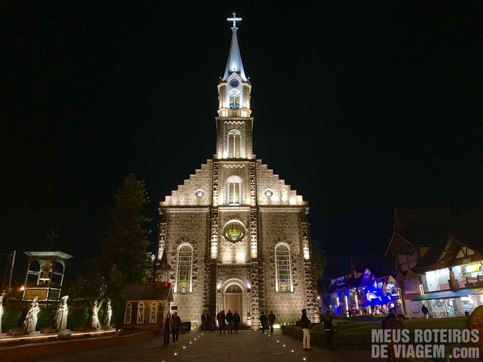 Catedral de Gramado à noite