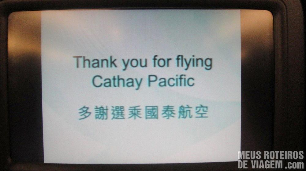 Saudação no final do voo