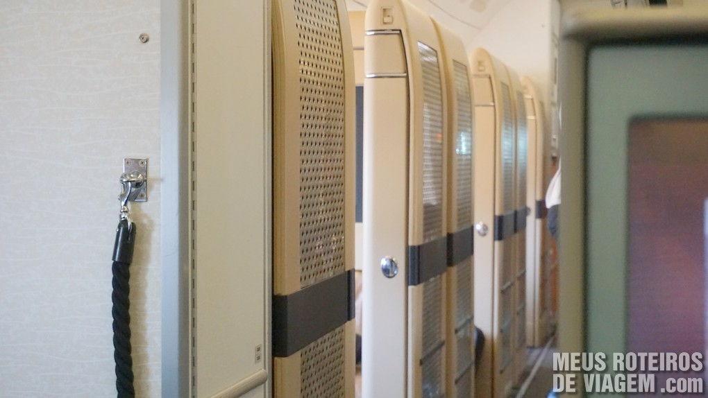 Cabines da primeira classe da Etihad Airways - First Class