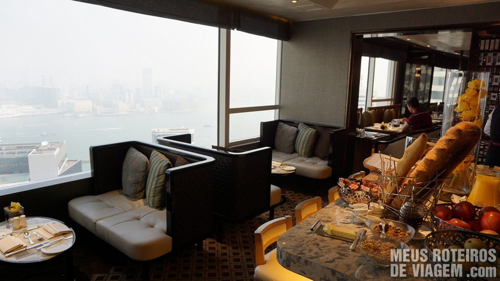 Café da manhã no Executive Lounge - Hotel Conrad Hong Kong