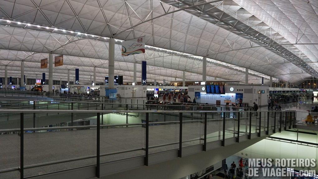 Área de check-in do Aeroporto de Hong Kong