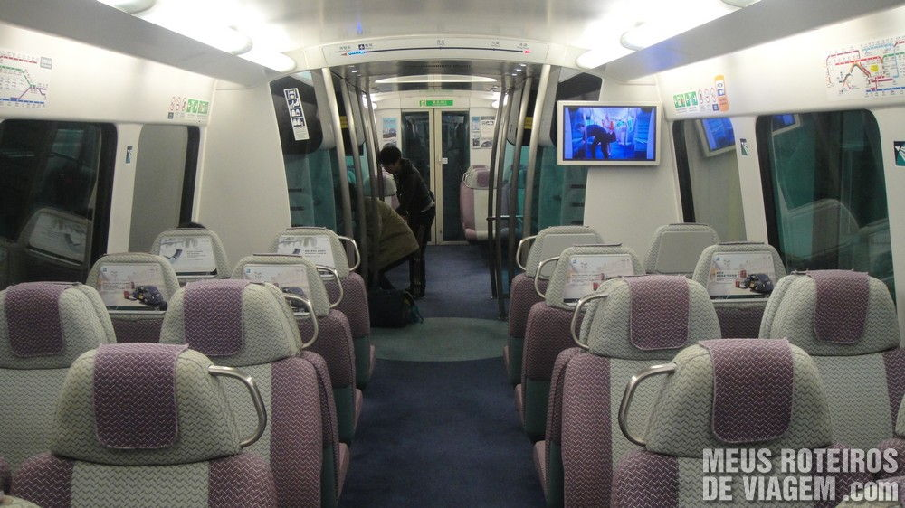 Trem Airport Express - Hong Kong