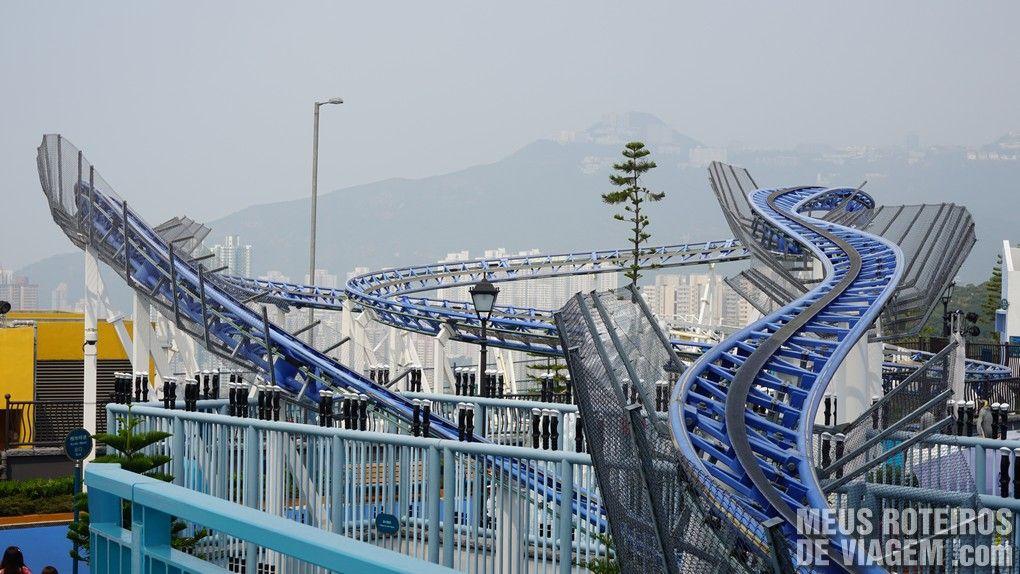 Montanha-russa Artic Blast - Ocean Park, Hong Kong