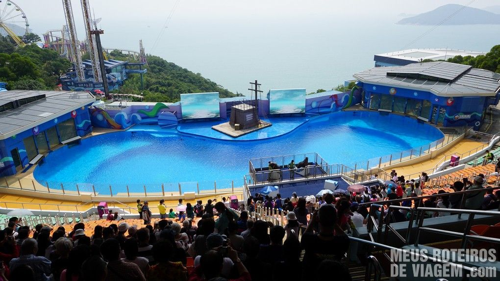 "Espaço de shows ""Ocean Theatre"" - Ocean Park, Hong Kong"