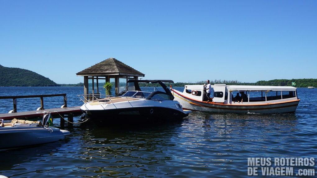 Ponto de parada do Restaurante Cabral - Costa da Lagoa, Floripa