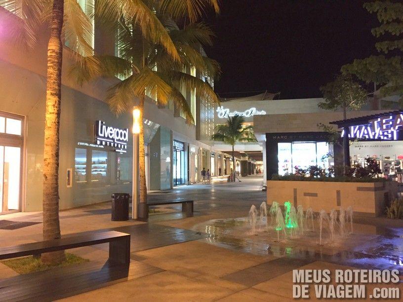 Área de luxo do La Isla Shopping - Cancun