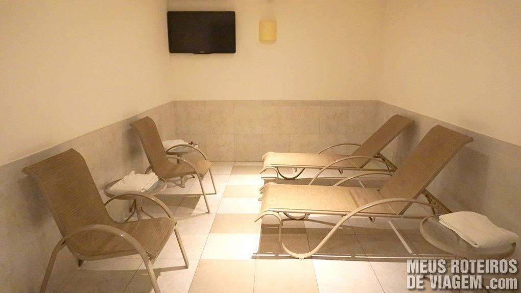Sauna no hotel Golden Tulip Regente - Rio de Janeiro