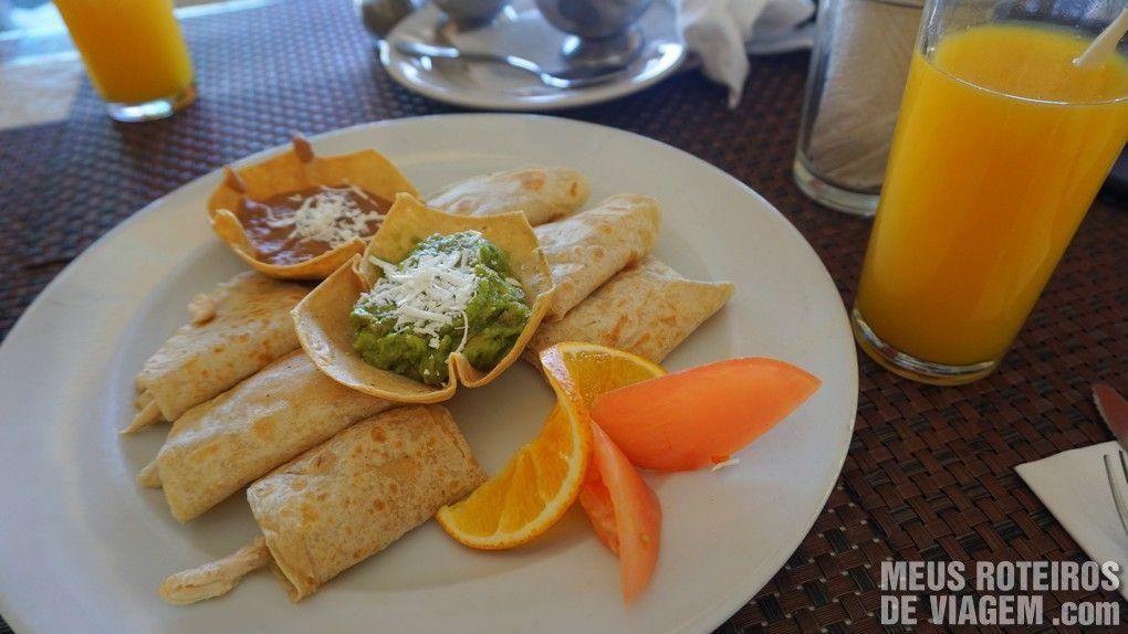 Quesadillas no restaurante Jeanie's - Cozumel, México
