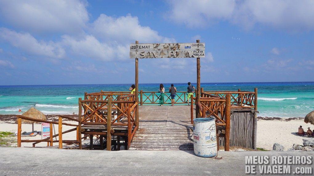 Mirante na costa leste de Cozumel - México
