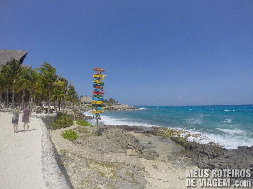 Mar do caribe mexicano no Parque Xcaret