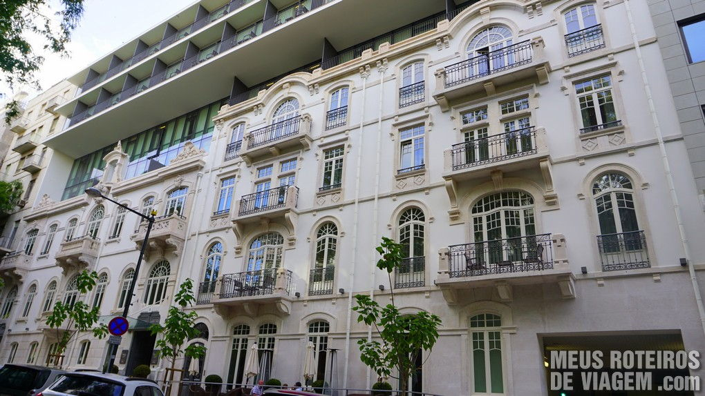 Fachada do hotel Porto Bay Liberdade - Lisboa, Portugal