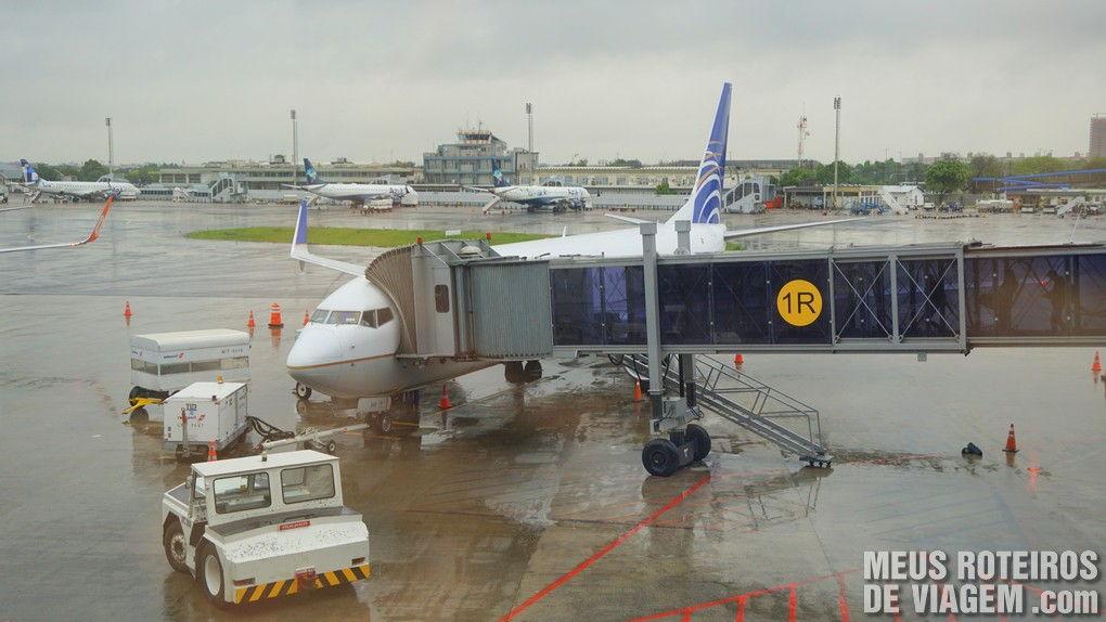 Avião da Copa no Aeroporto de Porto Alegre