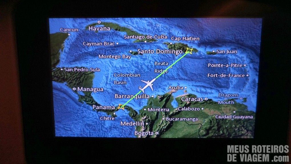 Rota do voo Cidade do Panamá - Santo Domingo