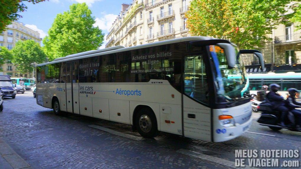 Ônibus de transporte par ao aeroporto da Air France