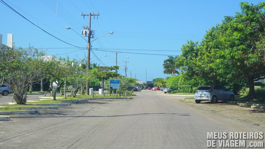 Área de estacionamento próxima à praia de Jurerê Internacional - Floripa