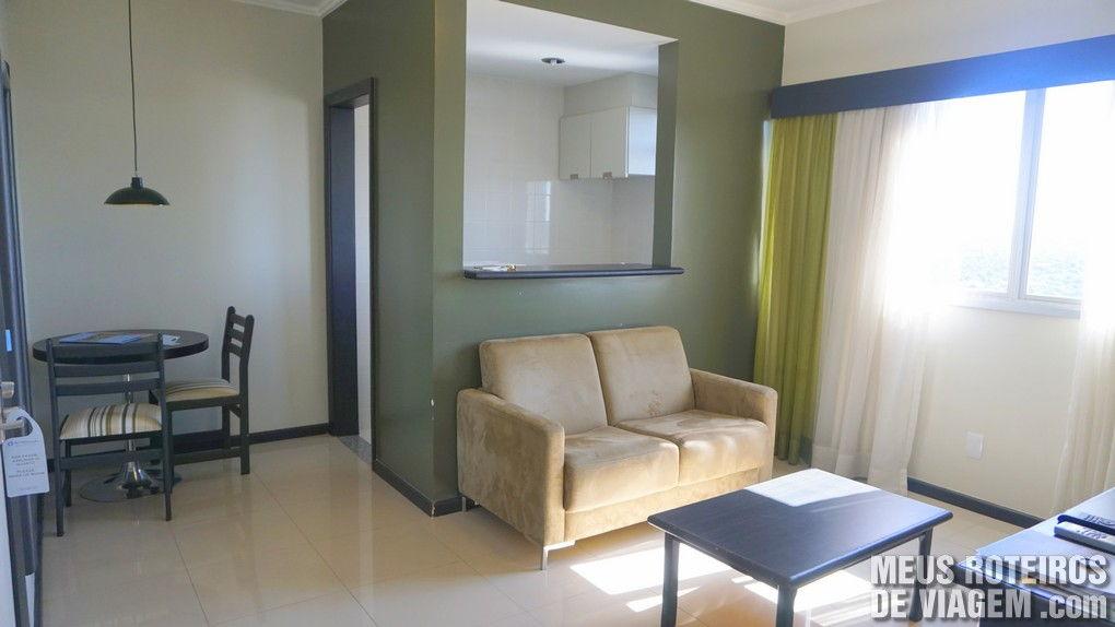 Suíte Luxo do Hotel Wyndham Golden Foz Suites - Foz do Iguaçú