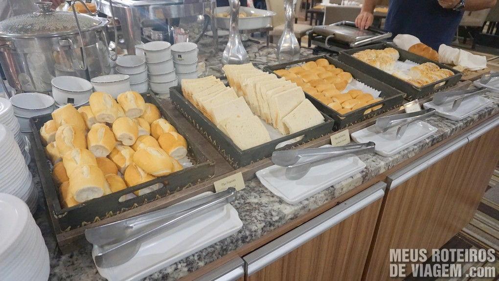 Café da manhã do Hotel Wyndham Golden Foz Suites - Foz do Iguaçú