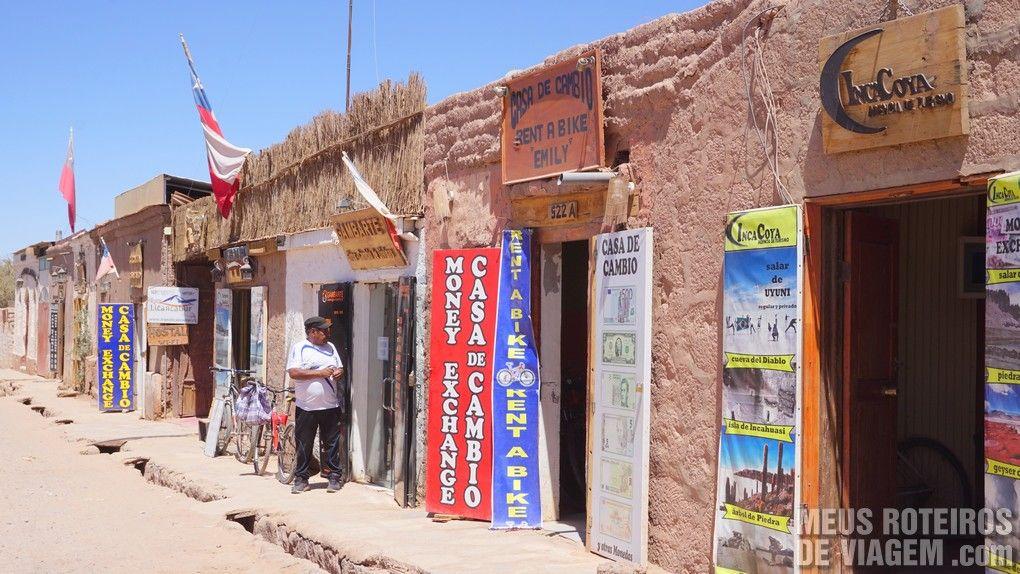 Casas de Câmbio na rua Toconao - San Pedro de Atacama, Chile