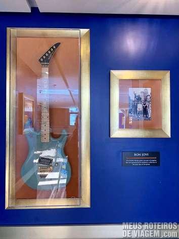 Guitarra do Bon Jovi no Hard Rock Café Gramado