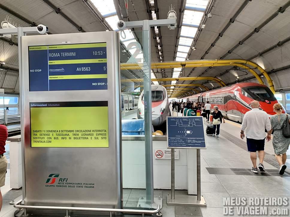 Estação de trem no Aeroporto de Roma Fiumicino