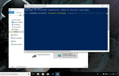 Montar ou desmontar imagem ISO no Windows 10