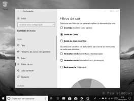 Filtros de cor no Windows 10
