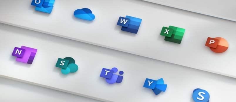 Microsoft mostra novos ícones do Office, redesenhados pela primeira vez desde 2013