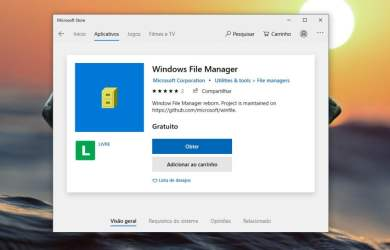 Windows File Manager na Microsoft Store