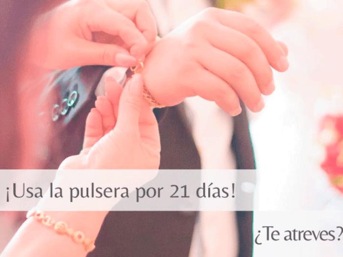 Ponte la manilla mínimo 21 días