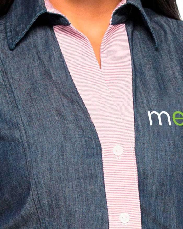 Uniformes empresariales para Mercaderistas M23 cuello