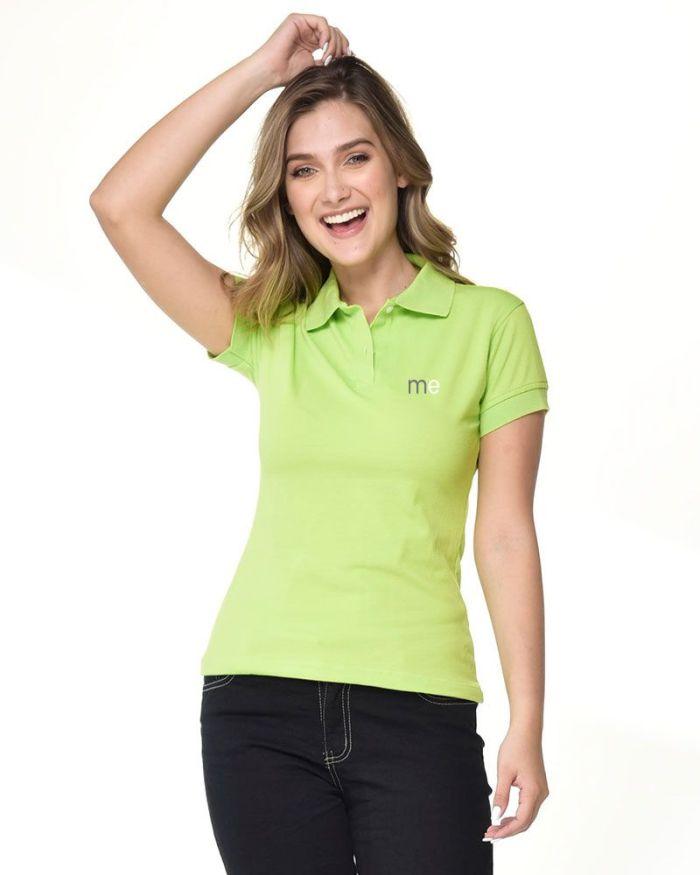 camisa verde limon tipo polo de dama p24-3
