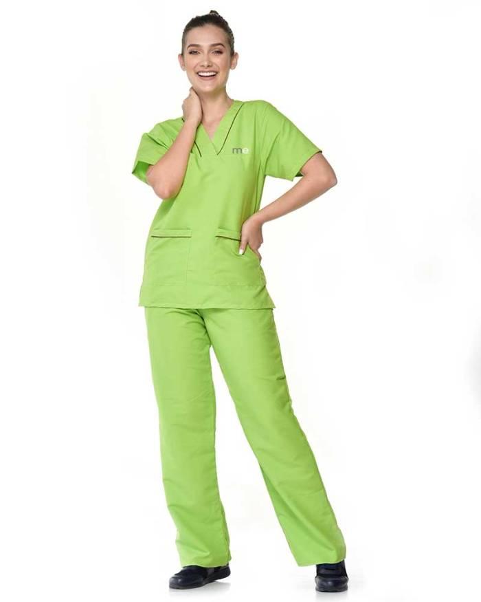 uniforme verde limon de dama antifluido s13-1